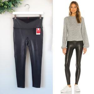 SPANX | Petite Faux Leather Legging in Black